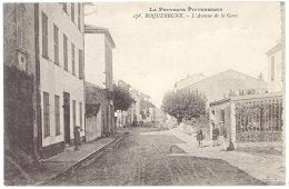 Cpa Roquebrune - L'Avenue De La Gare - Roquebrune-sur-Argens