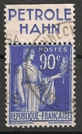 Timbre à Bande Publicitaire Type Paix N° 368. 90 C Bleu. Réclame Pub Publicité Carnet. - Advertising