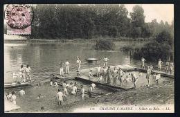 CPA 51 -CHALONS- Sur MARNE  - Marne - Soldats Au Bain  -   LL 116 -animée -Paypal Sans Frais - Châlons-sur-Marne
