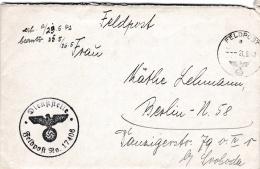 Feldpost WW2: From Namur In France - Ortskommandantur (II) 942 FP 15232D And Cachet From Ortskommandantur (II) 942 FP 17 - Militaria
