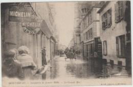 MONTEREAU ( 77) - INONDATION DE JANVIER 1910 - LA GRANDE RUE - Montereau