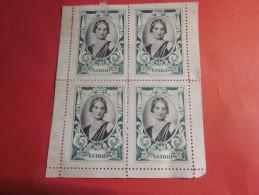 Bloc De 4 Vignettes (*) NSG La Reine ASTRID De Belgique Belgia Av Bord De Feuille-Label Sticker-Aufkleber-Bollo-Viñeta - Erinnophilie - Reklamemarken