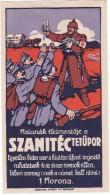 #6265 Hungary,  Advertising: WW1, War Charity - Red Cross, Szanitec Powder Against Lice - Werbepostkarten
