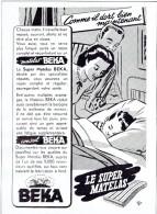 Ancienne Publicité Super Matelas Beka Et S.A. Métallurgique Espérance Longdoz Fours à Coke Hauts Fourneaux, Etc. - Publicité