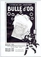 Ancienne Publicité Détergent Sans Savon Bulle D'Or  Et Couturier Fourreur Robert, Rue De Livourne Bruxelles - Publicité