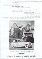 Ancienne Publicité Rolls-Royce Agence Pisart Bd De Waterloo Et Veuve Clicquot Ponsardin Maison Moreels Rue De L'Ecuyer - Reclame