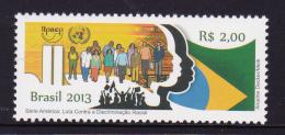 BRAZIL, 2013, MNH,UPAEP, FIGHT AGAINST DISCRIMINATION, 1v - Emissions Communes