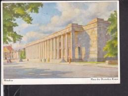 """Postkarte München Haus Der Deutschen Kunst , Werbestempel """" Kampf Dem Verderb"""" 1937 - Deutschland"""