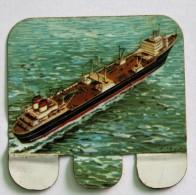Plaque Métal Huilor Baleinier WILLEM BARENDTS II 1956 Table De Marine Pays Bas - Plaques Publicitaires