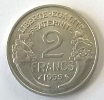 2 Francs 1959 - Morlon - Alu - Superbe - - France