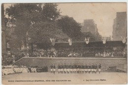 PARIS - ECOLE PROFESSIONNELLE D'AUTEUIL - FETE DES VACANCES 1910 - LES CHASSEURS ALPINS - Enseignement, Ecoles Et Universités