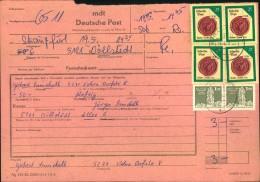 1988, Frankiertes Überweisungstelegramm Ab STRAUSSFURT - DDR