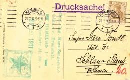 K8446 - Germany (1911) Hamburg (tariff: 3 Pf. - Drucksache!; Postmark: ESPERANTO!) Postcard: Hamburg - Esperanto