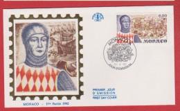 Monaco / 1er Jour / 24-04-1992 / Exposition Colombo - FDC