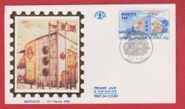 Monaco / 1er Jour / 24-04-1992 / Exposition De Seville - FDC