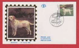 Monaco / 1er Jour / 13-03-1992 / Exposition Canine - FDC