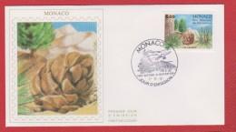 Monaco / 1er Jour / 7-11-1991 / Parc Du Mercantour : Pin Cembro - FDC