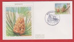 Monaco / 1er Jour / 7-11-1991 / Parc Du Mercantour : Pins à Crochets - FDC