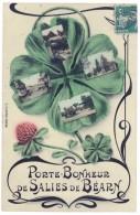 Cpa Salies De Béarn - Porte-bonheur ( Trèfle, Multivues ) - Salies De Bearn