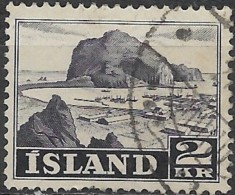 ICELAND 1950 Vestmannaeyjar Harbour -  2k. - Violet  FU - Gebraucht