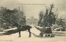 Dép 14 - Chateaux - Château - Attelage De Chevaux - Balleroy Sous La Neige - Une Promenade En Traineau - Bon état - France