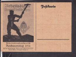 """Postkarte """" Arbeitsdienst Ehrendienst Deutscher Jugend"""" Arbeitsdienstaufmarsch Reichsparteitag 1934 - Allemagne"""