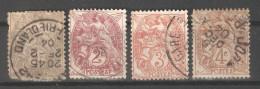 France 1900-29,Scott 100-112,USED (0) FR-19 - 1900-29 Blanc