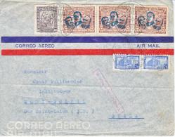 LETTRE PAR AVION POUR LA SUISE - MONT SOLEIL PRES ST-IMIER - 1945 - - Colombie