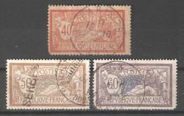 France 1900-20,Scott 121,123-124,USED (0) FR-19 - 1900-27 Merson
