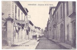 Cpa Vergèze - Avenue De La Gare - Vergèze