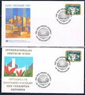 1987  Allgemeine Ausgabe (Einzelmarken)  2 Verschiedene FDC-Motive - FDC