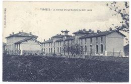 Cpa Vergèze - Le Nouveau Groupe Scolaire (4 Avril 1907) - Vergèze