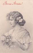 CPA Fillette Bouquet De Fleurs  Style Viennoise Déposé N° 95601 Fantaisie Illustarteur - Femmes