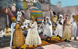 CPA Colorisée ALGERIE Femmes Danse Arabe TB état Animée Danseuses, Musiciens Circulée  Afrique Du Nord  ALGER - Algérie