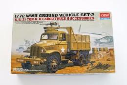 Model Kit - ACADEMY - WWII GROUND VEHICLE SET-2, Scale 1/72, + Original Box - Militaire Voertuigen