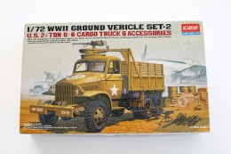 Model Kit - ACADEMY - WWII GROUND VEHICLE SET-2, Scale 1/72, + Original Box - Military Vehicles