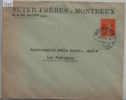 1924 Tellknabe 152 - Cachet: Montreux - Suter Frères - Suisse