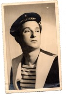 Carte Photo Portrait Marin Du Triomphant 1949 - Collections