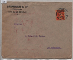 1924 Tellknabe 152 - Cachet: Carouge - Brunner & Co. Promenades Carouge-Geneve - Suisse