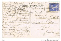 O.MEC KRAG PARIS 76 ESSAI 6 LIGNES DROITES SUR CPA - Marcophilie (Lettres)