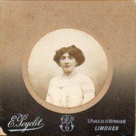 572- Portrait De Femme 2 Photographie E. Peycut à Limoges - Personnes Anonymes