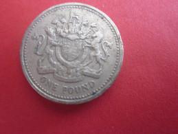 MONNAIE DECIMALE ONE POUND GB UK GREAT BRITAIN ROYAUME UNI ELISABETH II - 1971-… : Monnaies Décimales