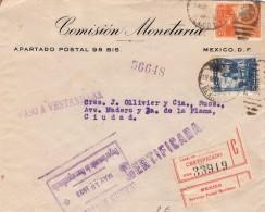 1923 MEXIQUE LETTRE CERTIFICADA MEXICO /  7611 - Mexique