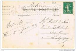 O.MEC CHAMBON PARIS 111 RUE STE ANNE SUR CPA - Postmark Collection (Covers)