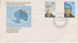 AAT 1982 Mawson 2v FDC (31537) - FDC