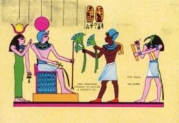 Egitto - Cartolina KING HOREMHAB OFFERING TO  GOD RA & GODDESS... - OTTIMA M82 - Egitto