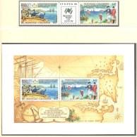 Nouvelle Caledonie:Yvert  N° 561A + BF 9**; MNH; La Pérouse - Ongebruikt