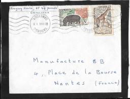 LETTRE  FLAMME    YAOUNDE    CASABLANCA    MAROC - Morocco (1956-...)
