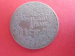 Emetteur Maroc 1921-1924 Valeur 1 Franc (1 MAF) YOUSSEF Métal Nickel Poids 7,8 G Diamètre 27 Mm Epaisseur 1,5 Mm Ronde - Morocco