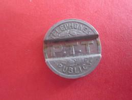 JETON DE TELEPHONE PUBLIC  P.T.T. REPUBLIQUE FRANCAISE 1937 - Francia